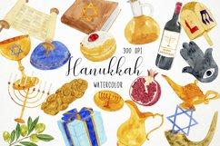 Watercolor Hanukkah Clipart, Chanukkah Clipart Product Image 1