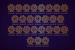 Swirly Mandala Monogram Font Product Image 7