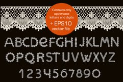 Crochet - svg craft lace font Product Image 3