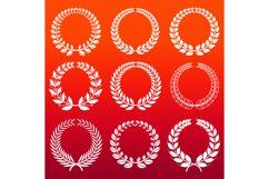 Laurel wreaths set - white decorative winners wreath Product Image 1