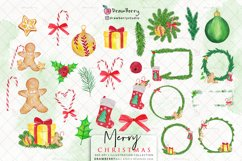 Watercolor Christmas Clipart PNG | Drawberry CP041 Product Image 2