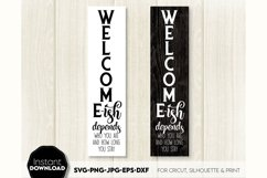 Welcome-ish SVG Porch Sign SVG Front Door Decor SVG Welcome Product Image 2