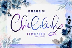Childish - A Lovely Font Calligraphy Product Image 1