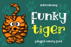 Funky Tiger - Playful Display Font Product Image 1