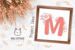 Floral alphabet svg, Floral Monogram letters Bundle, Wedding Product Image 6