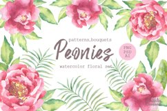 Watercolor Peonies set Product Image 1