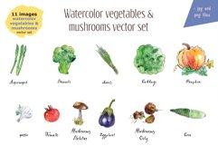 Watercolor vegetables & mushrooms Product Image 2