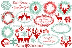 Reindeer clipart, invitation embellishments, graphics, illustrations AMB-1117 Product Image 5