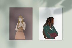 Elf clipart, abstract women, magic set, fairy creatures Product Image 3