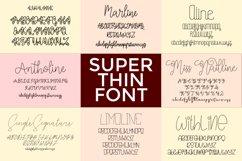 Bundle Super Thin Font Product Image 1