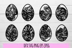 Easter eggs SVG . Easter SVG bundle Product Image 2