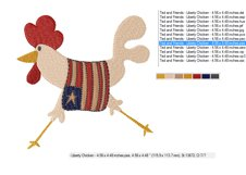Liberty Chicken in 2 sizes - Instant Download Product Image 2