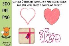 Valentine Clipart Elements Sublimation Scrapbooking Bundle Product Image 5