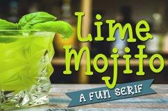 Lime Mojito - A Fun Serif Font Product Image 1