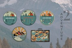 Outdoor Travel. Set of twelve colorful round logos. Product Image 4