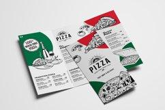 Tri-Fold Pizza Menu Template Product Image 5