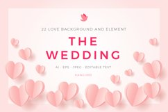 Love Wedding Background Template Product Image 1