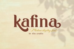 Kafina Modern Serif Font Product Image 1