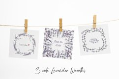Hand drawn Lavender clipart. Valentines lavender heart. Product Image 3