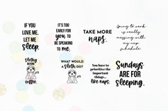Funny Sleepy Quote SVG Bundle Volume 1 | Nap Quotes Product Image 3