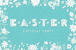 Easter Spring display fonts - Trio Product Image 1
