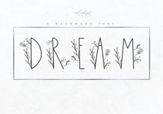 Dream - Handmade Floral Font Product Image 1