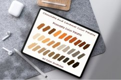 Chocolate and Caramel Color Palette ,Procreate palettes Product Image 1