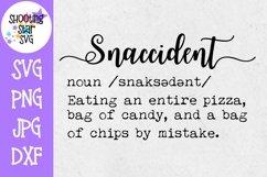 Snaccident Definition SVG - Funny Definition SVG - Food SVG Product Image 1