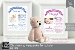 Christening Keepsake Template - SVG & Cut Files for Crafters Product Image 1