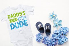 Daddy's little dude SVG, DXF, PNG Product Image 2