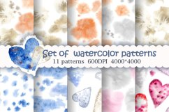 Set of watercolor patterns Product Image 1