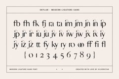 skylar - ligature sans font family Product Image 3