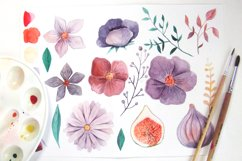 Watercolor Floral Clip Art Product Image 6
