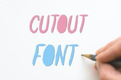 Paper Cut Out Font Product Image 2