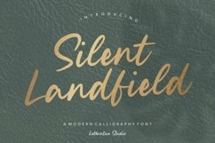 Silent Landfield is a Modern Calligraphy Font Product Image 1