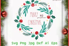 Christmas Wreath, Merry Christmas Wreath, Merry Christmas Product Image 1
