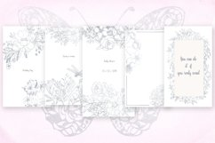 Card templates and floral illustrations in silver Product Image 4