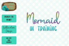 Mermaid In Training Sublimation Design Product Image 1