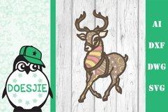 Christmas bundle 5 designs 3d layered mandala zentangle svg Product Image 5
