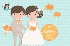 Wedding characters clipart Product Image 4
