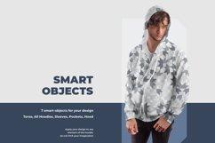 3 Men's Zip Hoodie Mockups Product Image 2