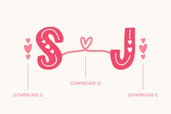 Love Struck, Thick Valentine's Heart Font Product Image 3
