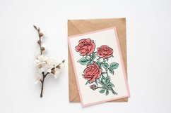 Flowers sublimation, hand drawn roses PNG Product Image 6