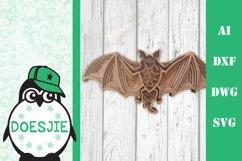 Halloween svg Bat 3d multi layer mandala 5 layers Product Image 1