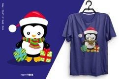Baby Penguin Giftbox T-Shirt Design | Sublimation T-Shirt Product Image 1