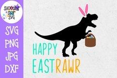 Happy Eastrawr SVG - Dinosaur SVG - Spring SVG - Easter SVG Product Image 1