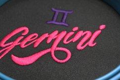GeminiZodiac Sign - machine embroidery design Product Image 4