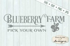 Blueberry Farm - Pick Your Own - Farm Rustic - SVG DXF Files Product Image 2