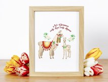 Llama Clipart with red flowers Product Image 4