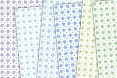 Flowers mixed backgrounds, pastel floral digital paper Product Image 3